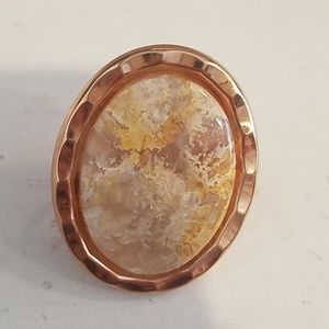 Plume agate cab cocktail ring sample